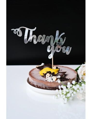 Thank you – cake topper